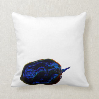 blue dark pepper at bottom food image throw pillow