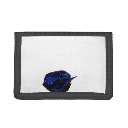 blue dark pepper at bottom food image tri-fold wallets