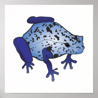 Blue Dart Frog Print