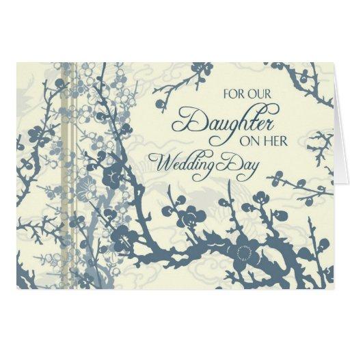 Blue Daughter Wedding Congratulations Card