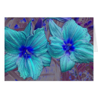 Blue Day Lilies Greeting Card