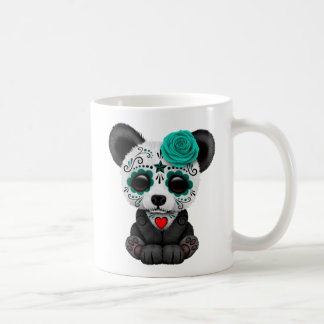 Blue Day of the Dead Sugar Skull Panda Bear Coffee Mug
