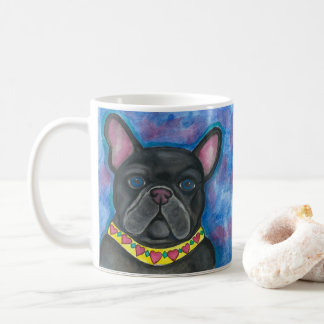 Blue Dazzle French Bulldog mug