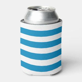 Blue Deckchair Stripes Can Cooler
