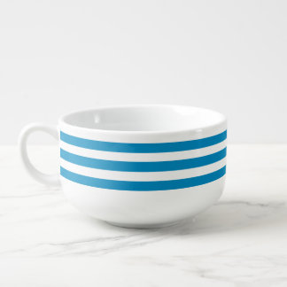 Blue Deckchair Stripes Soup Mug