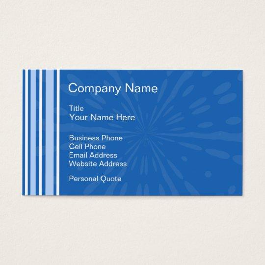 Blue Deco Business Profile Card