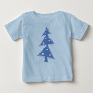 blue decorated christmas tree baby T-Shirt