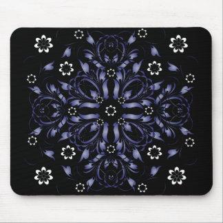 blue decorative floral pattern mouse pads