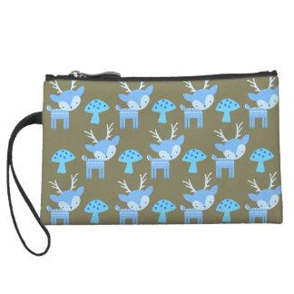 Blue Deer Bag Wristlet Purses