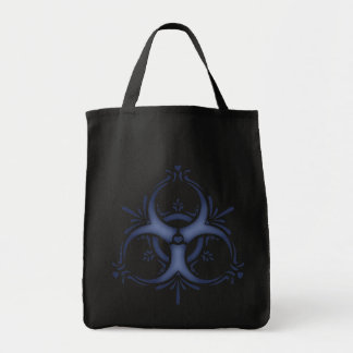 Blue Delft Biohazard Tote Bag