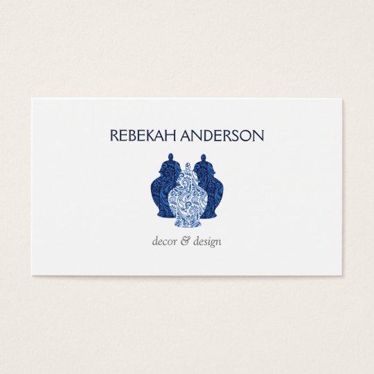 Blue Delftware Jars Pottery Trio Business Card