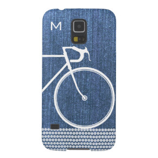 Blue denim Abstract Bicycle dots Galaxy S5 Case