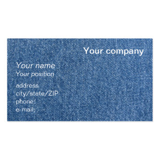 """Blue denim"" business card"