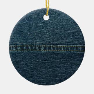 Blue Denim Christmas Ornament