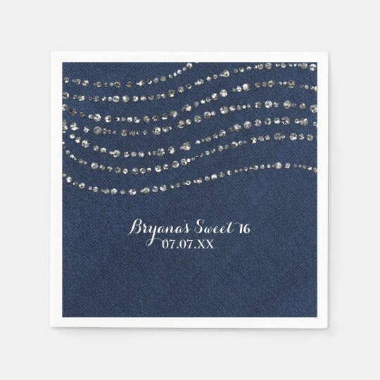 Blue Denim & Diamonds Sparkle Bling Birthday Party