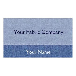 Blue Denim Fabric with Seam Fashion Business Card