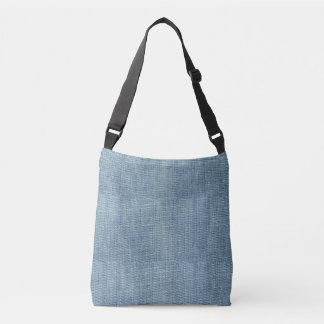 Blue Denim Jean  All-Over-Print Cross Body Bag