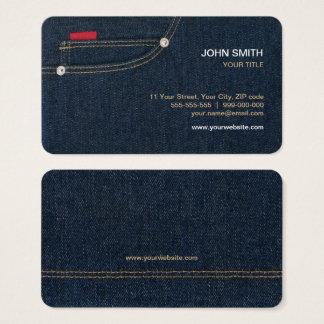Blue Denim Jeans business card