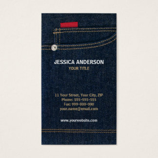 Blue Denim Jeans business card