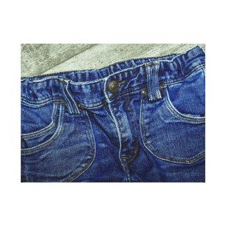 Blue Denim Jeans Canvas Print