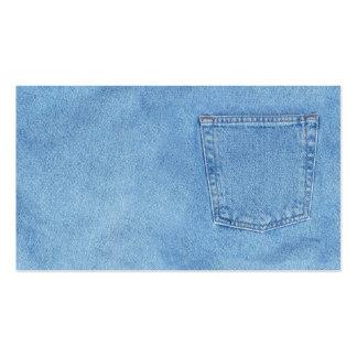 blue denim pack of standard business cards