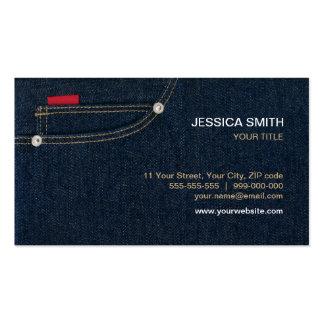 Blue Denim Pocket business card