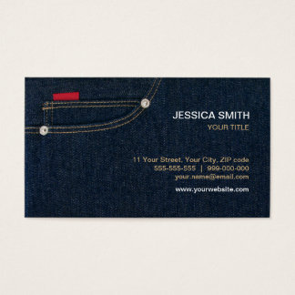 Blue Denim Pocket business card