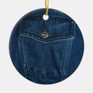 Blue Denim Pocket Christmas Ornament