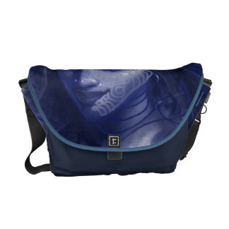 blue desi girl messenger bag