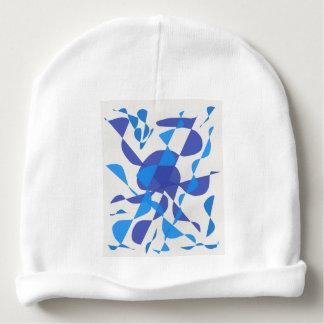 blue design baby beanie