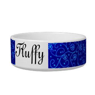 Blue design for your cat bowl