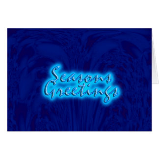 Blue Design Greeting Card