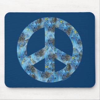 Blue Design of Peace Sign Peace Symbol Mousepads