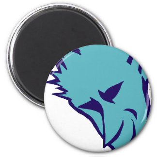 Blue Devilish Elf 6 Cm Round Magnet