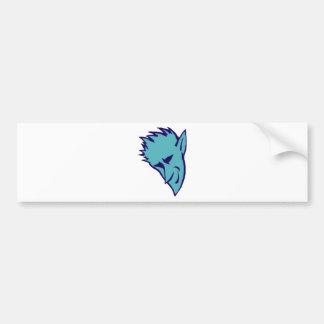 Blue Devilish Elf Bumper Sticker