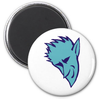 Blue Devilish Elf Refrigerator Magnets