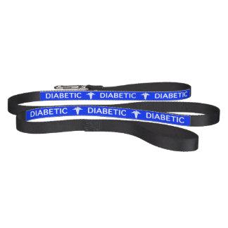 Blue Diabetic Dog medical alert Pet Leash