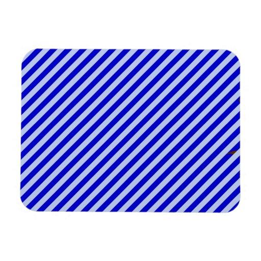 Blue Diagonal Stripes Rectangular Magnet