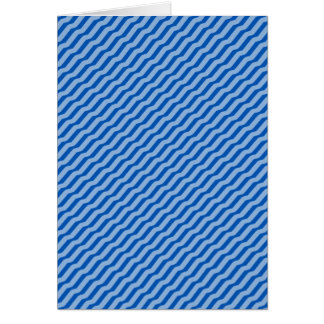 Blue Diagonal Zig Zag Pattern Greeting Cards