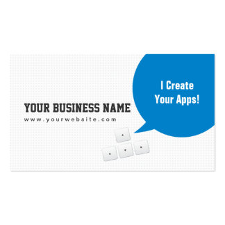 Blue Dialog Box App Developer Business Card