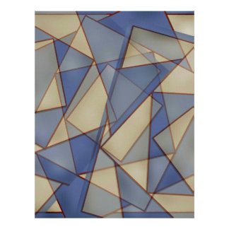 Blue Diamond Abstract Poster