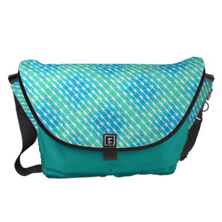 Blue Diamond Barbed Wire Barb Fencing Mint Green Courier Bag