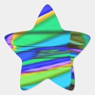 Blue DIAMOND : Dream Graphic Art Star Sticker