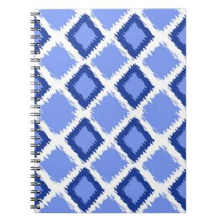 Blue Diamond Ikat Pattern Note Books