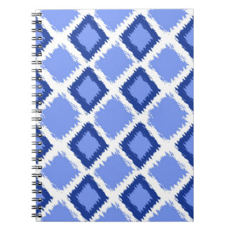 Blue Diamond Ikat Pattern Notebooks