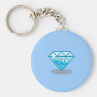 Blue Diamond Key Ring