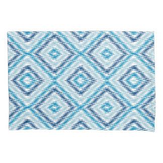 Blue Diamond Pattern Pillowcase
