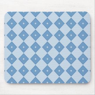 Blue Diamond Print Mouse Pad