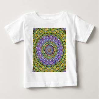 Blue Diamond Reflecting Kaleidoscope Yellow Baby T-Shirt