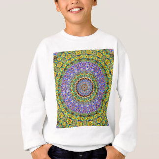 Blue Diamond Reflecting Kaleidoscope Yellow Sweatshirt